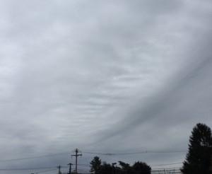 Altocumulus undulates clouds today herald rain
