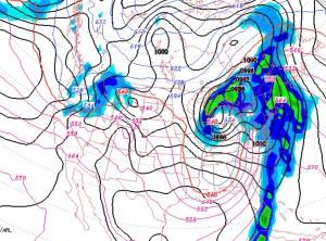 Current GFS forecast for X-mas eve