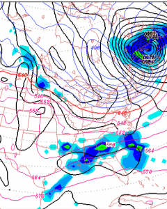 GFS Sunday surface map