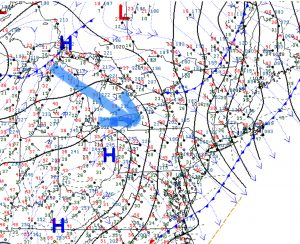 Surface map northeast